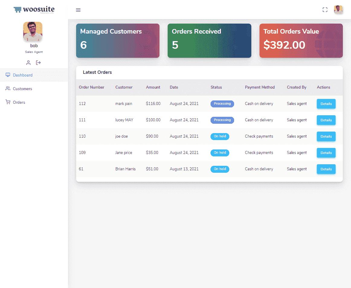 Sales Agent Dashboard