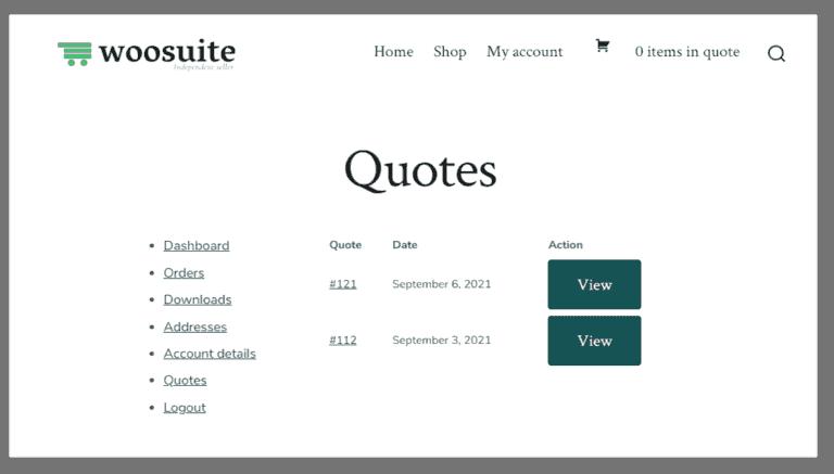 manage quote